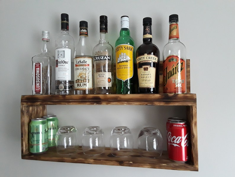 liquor rack, READY TO SHIP, whiskey rack, liquor shelf, wood liquor rack,  liquor display, liquor rack wall, liquor bar, Housewarming gift