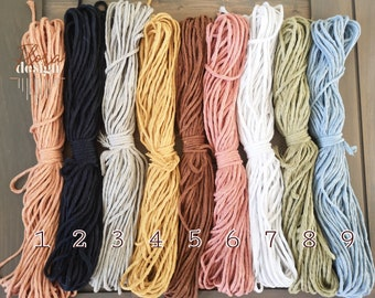 3mm rope / made of recycled cotton / rope to a strand / thickness of 3mm / 30 meters per roll / 100 feet