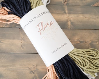 5-colour kit of your choice / recycled cotton rope/ macramé rope / set of five colours