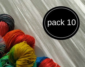VARIGATIONS. SET of 10 SKEINS (11 yards). Varigation Colors to choose. Hand Dyed Silk Flosses. Cross Stitch. Embroidery