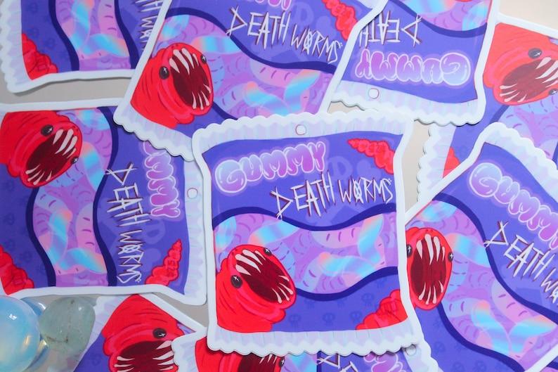 Gummy Death Worms Sticker image 0