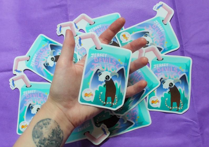 Jersey Devil's Juice Box Sticker image 0