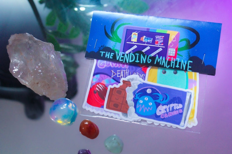 Vending Machine Candy Sticker Pack image 0