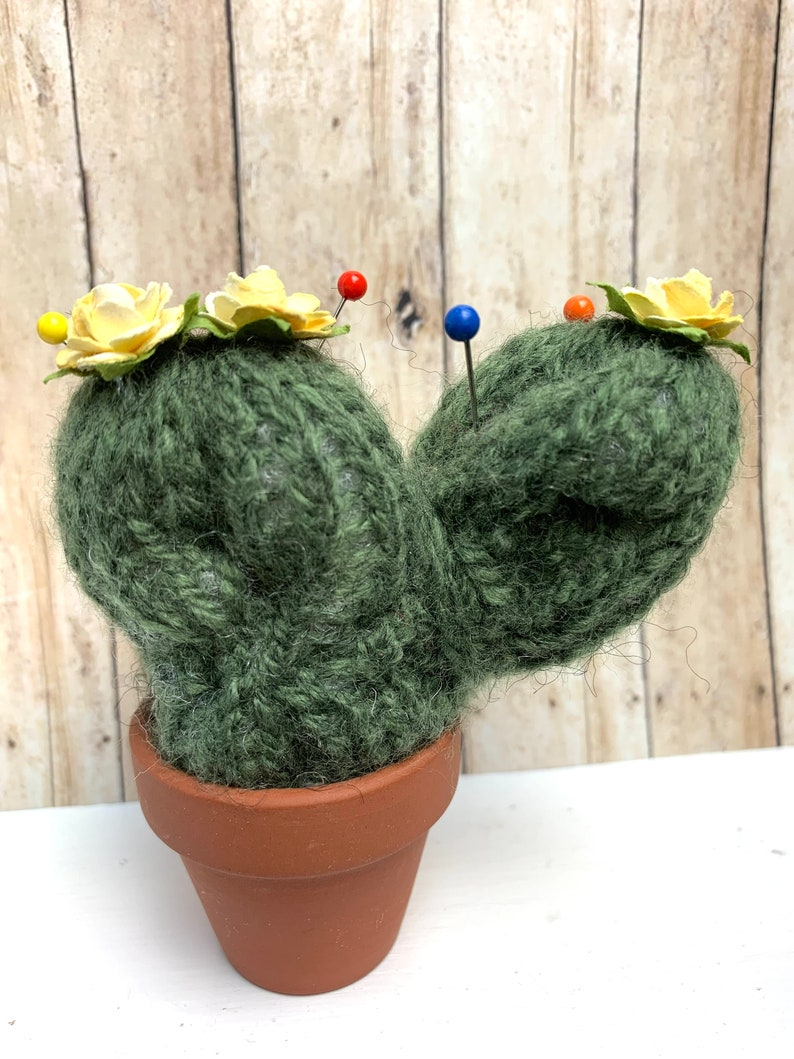 Cactus Pin Cushion Knitted
