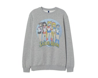ae7010190 Sailor Moon design Retro Sweater 90s Sweatshirt 80s clothing sweat shirt Men  Women unisex