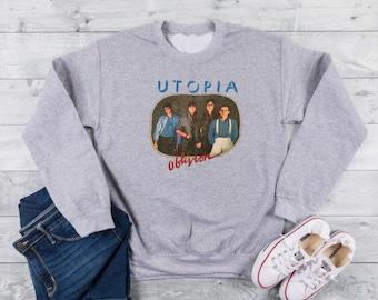 Utopia Band Sweater 90s Sweatshirt 80s Clothing Sweat Shirt Men Women Unisex Vapor Wave