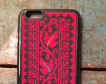 detailed look b29ed fa076 Cross stitch iphone case | Etsy