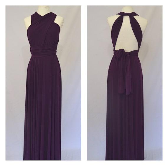 Aubergine Bridesmaid Dress Infinity Dress Twist Wrap Dress Etsy