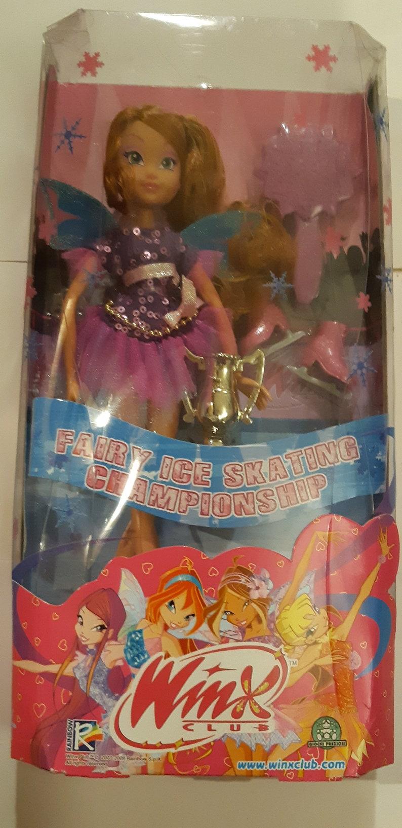 Winx Club Giochi Preziosi Fairy ICe Skating Flora  Discontinued  RARE