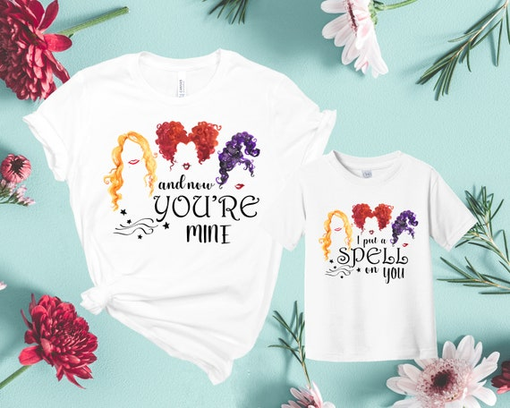 Hocus Pocus Baby Gift Set with Baby T-Shirt /& Mothers T-Shirt