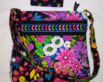 c0cebab51f EUC Vera Bradley FIELD FLOWERS Rare Hard to Find Pattern Crossbody    Matching Wallet