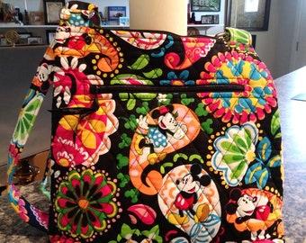 d1b7f21166d NWT Vera Bradley Large Crossbody Bag in the Mickey at Midnight Pattern