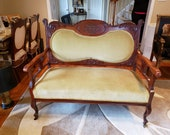 Antique French Louis XV Style Finely Carved Loveseat