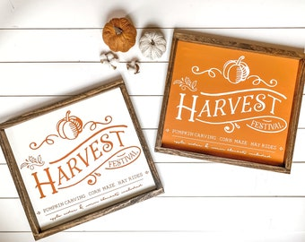 Harvest Festival Farmhouse Sign, Fall Decor Sign, Alaska Fall Sign, Made in Alaska, Autumn Sign, Rustic Fall Decor, Burnt Orange Sign