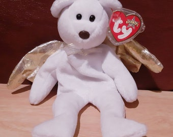 864460b0890 Authentic Ty Beanie Baby  HALO 2  The Bear With Golden Wings and Brown Nose.