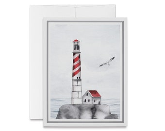Lighthouse Note Cards Light House Cards Note Card Set Lighthouse Card Set Blank Cards