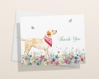 Labrador Retriever Thank You Card - 1, 12, 24, or 48 Eco-Friendly Cards With Envelopes