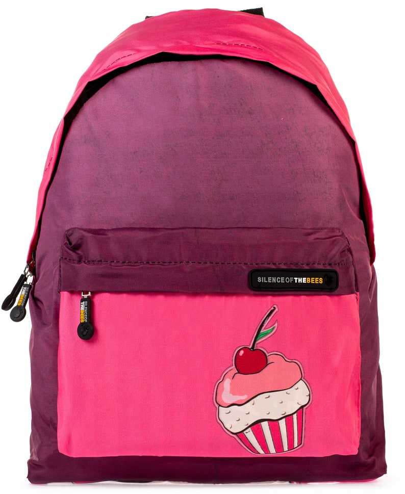Silence of the Bees Printed 24L capacity Unisex Backpack 100/% Vegan cute and cool design NON Carcinogenic Cupcake