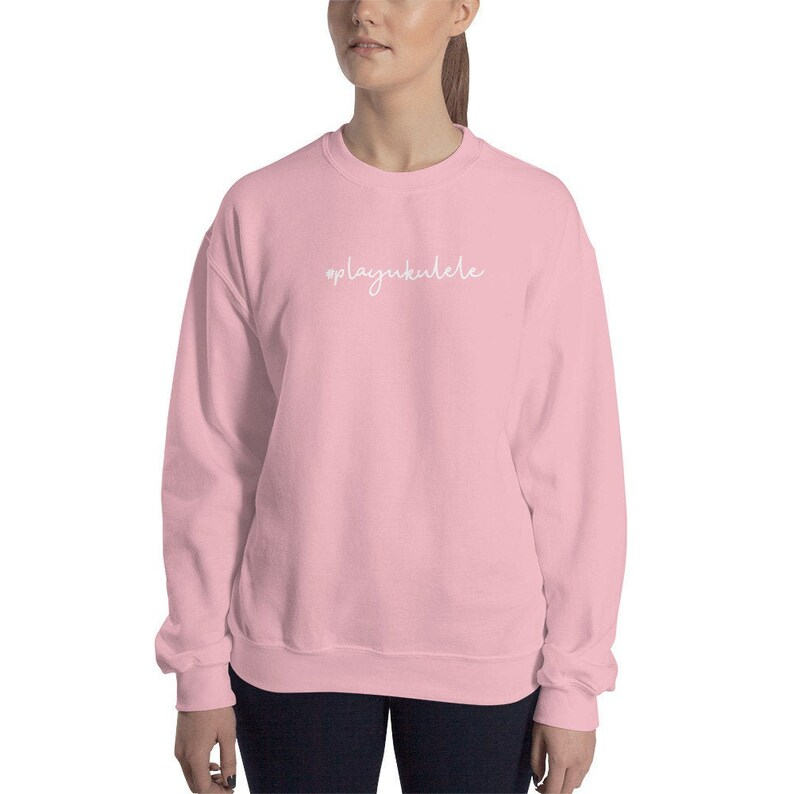 Ukulele Sweatshirt  playukulele  Comfortable pink image 0