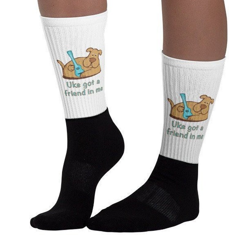 Ukulele socks with cute dog and Uke got a friend in image 0