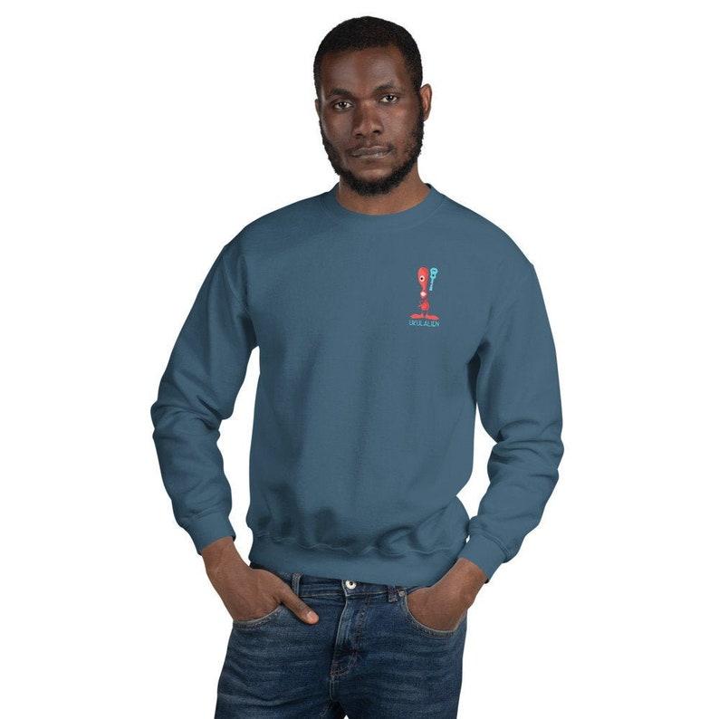 Ukulalien Sweatshirt in Indigo Blue  Unisex sweater with image 0
