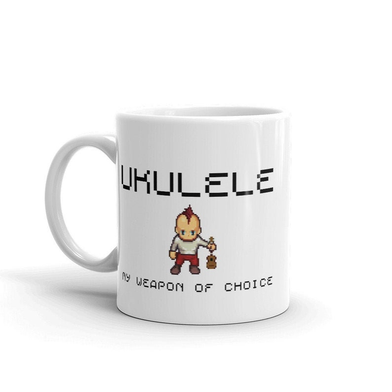 Cool mug with Ukulele Is My Weapon Of Choice slogan  Original image 0