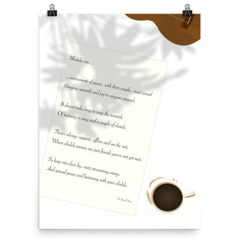 Ukulele poem poster  An inspirational poem to celebrate and image 0