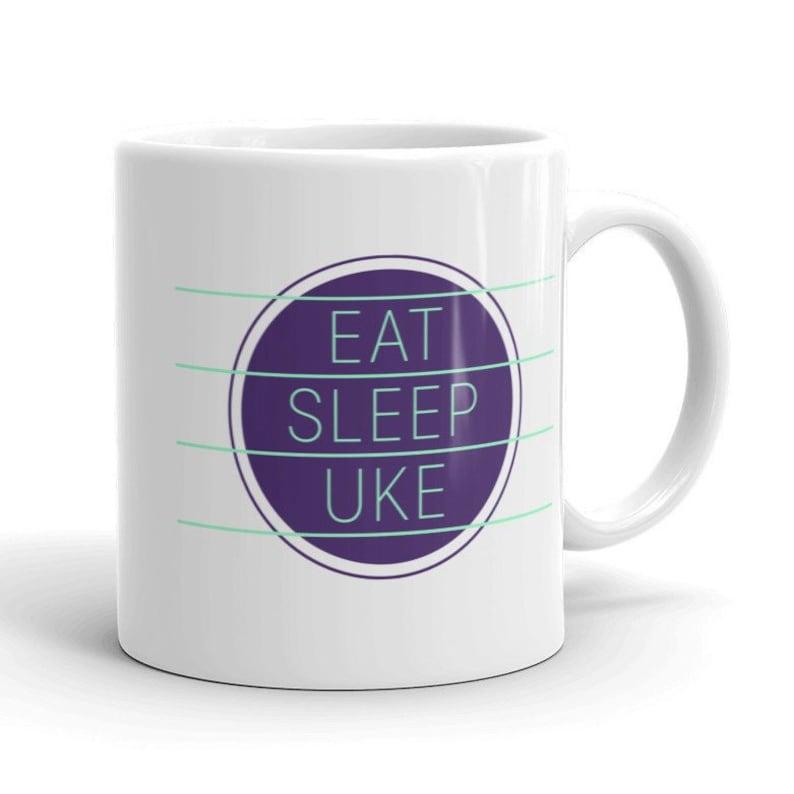 Ukulele Mug  Eat Sleep Uke  Great mug with image 0