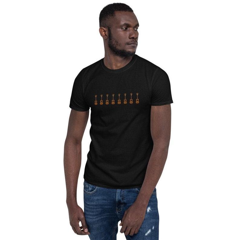Retro digital ukulele t-shirt in black  Original Tshirt with image 0
