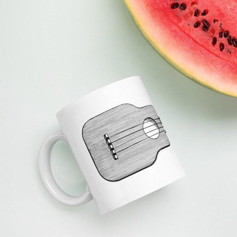 Ukulele Mug  Great mug with vintage square uke design a image 0