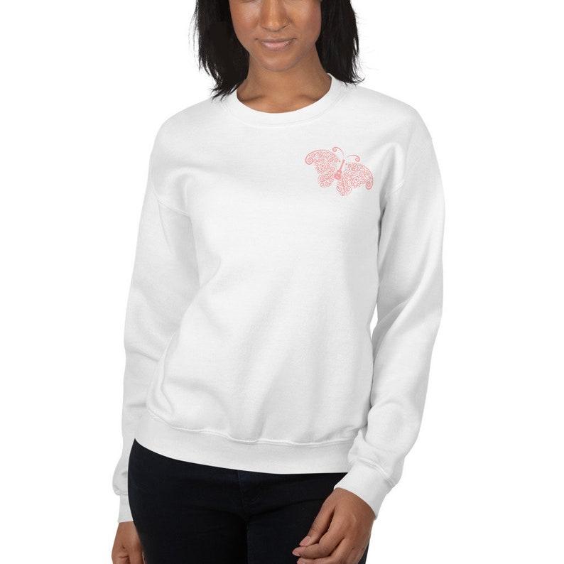 Ukulele Butterfly Sweatshirt  Pretty sweatshirt with subtle image 0