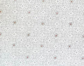 Salon Fleur by Studio Frivolité for Studio E, pattern #3638-9, grey and white with a burgundy flower