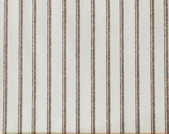 Normandy Court by Michelle D'Amore, pattern #2676, colour #77, Soft brown stripe on ivory background