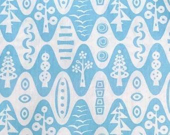 Flock by Thomas Knauer, pattern 5656, colour BB, Blue Tonal Mod Trees, Andover Fabrics