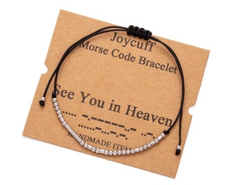 See You In Heaven Memorial Bracelet Morse Code Jewelry Baby Loss Bracelet Miscarriage Bracelet Loss of a Child Keepsake Loss of Son Gift
