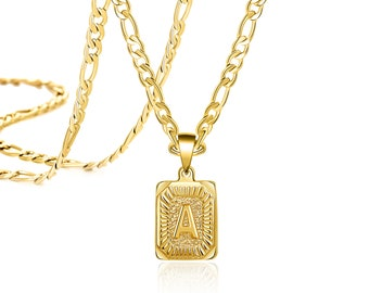 Color Initial Necklace,Square Initial Necklace,Square Plate Necklace,Gold Initial Necklace,Square Necklace,Alphabet Necklace,Letter Necklace