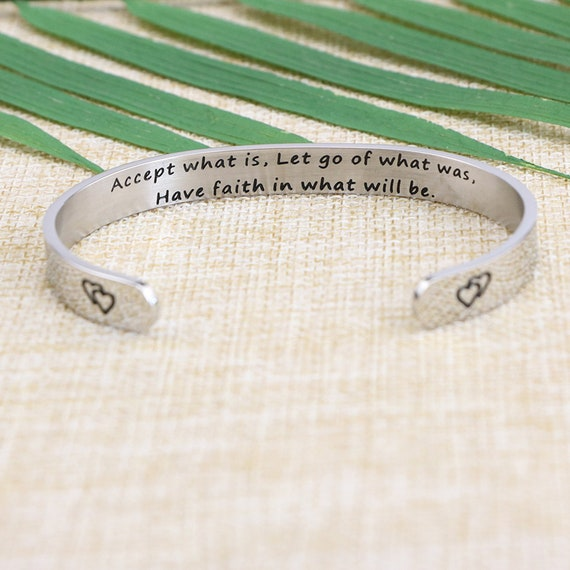 Joycuff Mothers Day Jewelry Gift Bracelet Cuff Bangle for Mom Inspirational Saying for Women