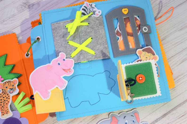 Zoo Toddler activities Busy book Gifts for 1 year old ...