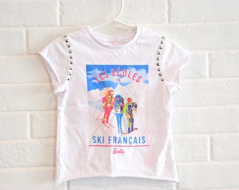 Retro Style Uruguay Silhouette Childrens Girls Short Sleeve T Shirts Ruffles Shirt Tee for 2-6T