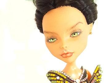 Ooak Monster High Doll author's  OOAK Art Doll hinge gift collection fashion doll OoakMonster Repaint custom OoakDoll bjd Ivanka