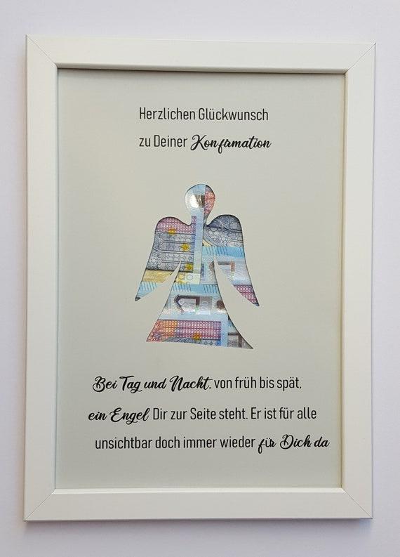 Geldgeschenk Zur Taufe Kommunion Konfirmation Firmung Schutzengel