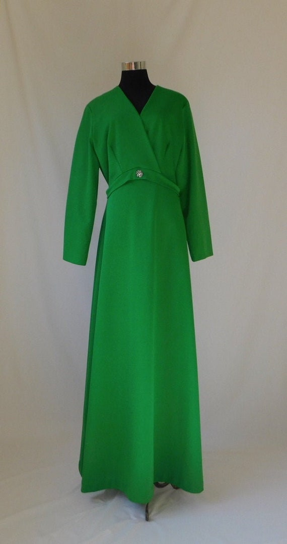 70s Lime Green Maxi Dress