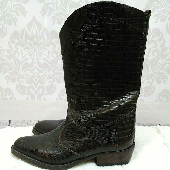Vintage 90s Joan And David Western Cowboy Boots Wo