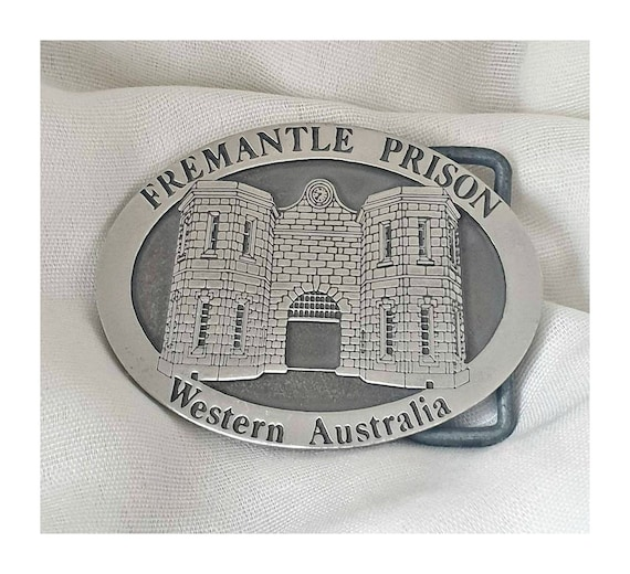 Vintage Prison Belt Buckle, Freemantle Prison Pewt