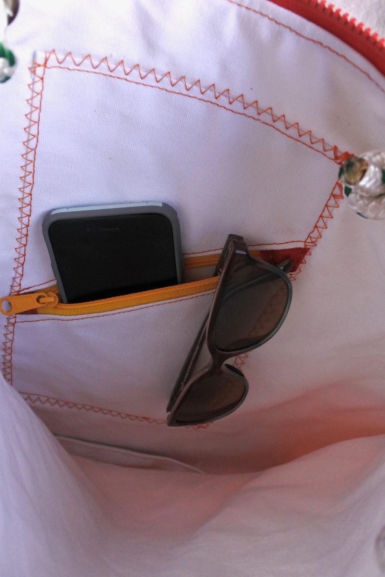 One of a kind! sail tote Small Recycled Sailcloth bag