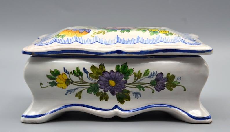 Vtg Italian Signed Ceramic Jewelry Box