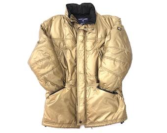 431b86eb8430 POLO SPORT Ralph Lauren VTG 90 s Gold Nylon Windbreaker Puffer Jacket  Mens  Medium (measurements in description)