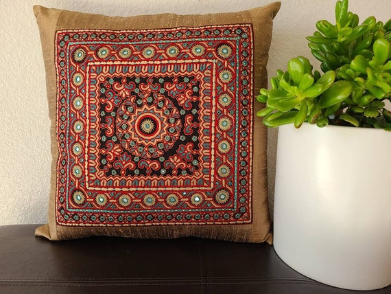 Pakko Fuldi Ranobandh Embroidery Custom handmade 16 X 16 | Etsy