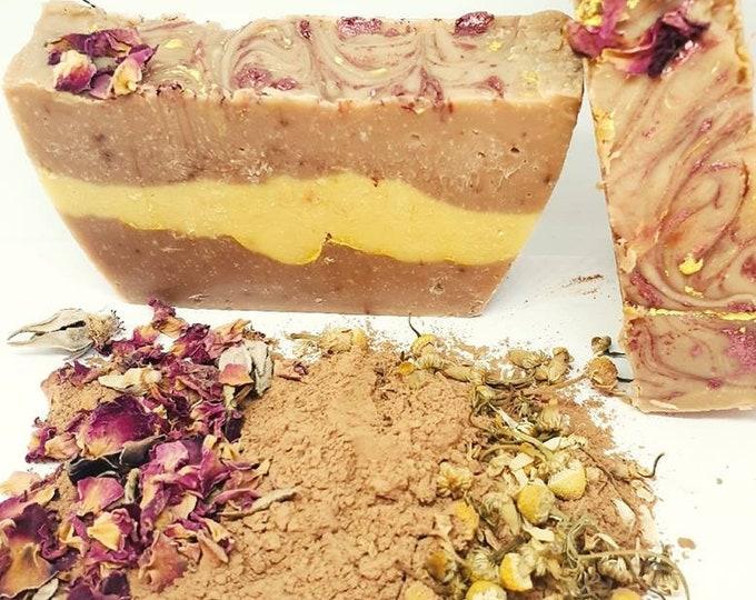 Rose saheking and chamomile soap