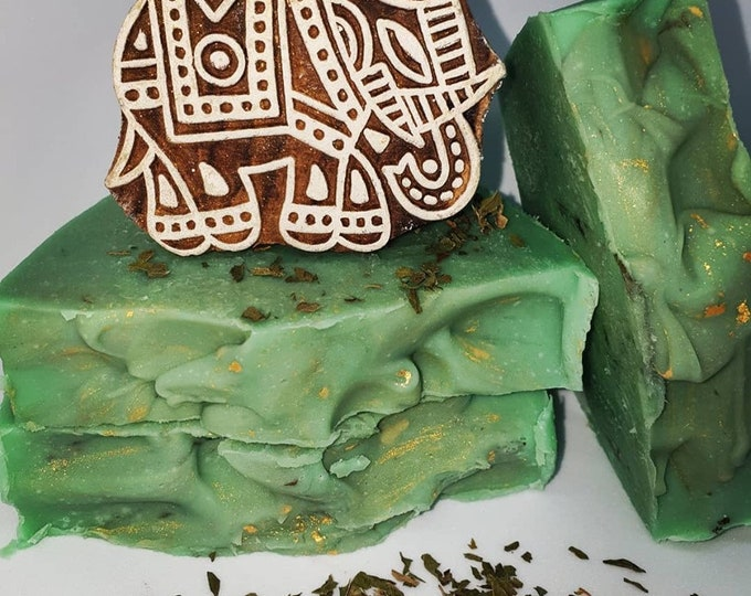 Cypress and mint soap